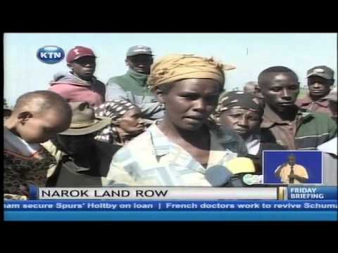 Residents of Narok County demonstrate against alleged land grabbing