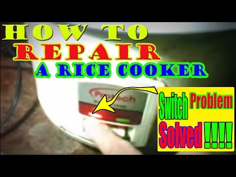 DIY Quick fix to Repair a Rice Cooker That Have Contact Switch Problem in less than 2 minutes