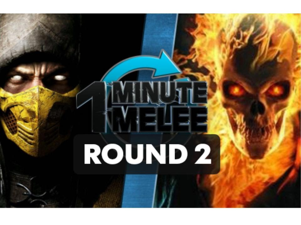 One Minute Melee - Scorpion Vs Ghost Rider ROUND 2 (Mortal ...