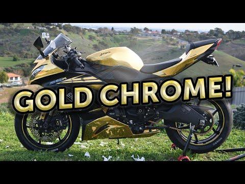 My gold chrome bike!