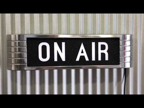 Light Up ON AIR studio Sign rca old chrome style