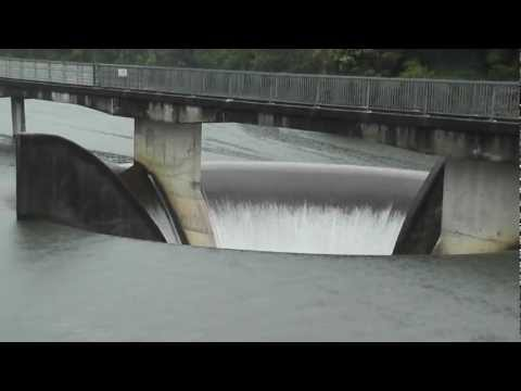 Lower Huia dam spillway overflow