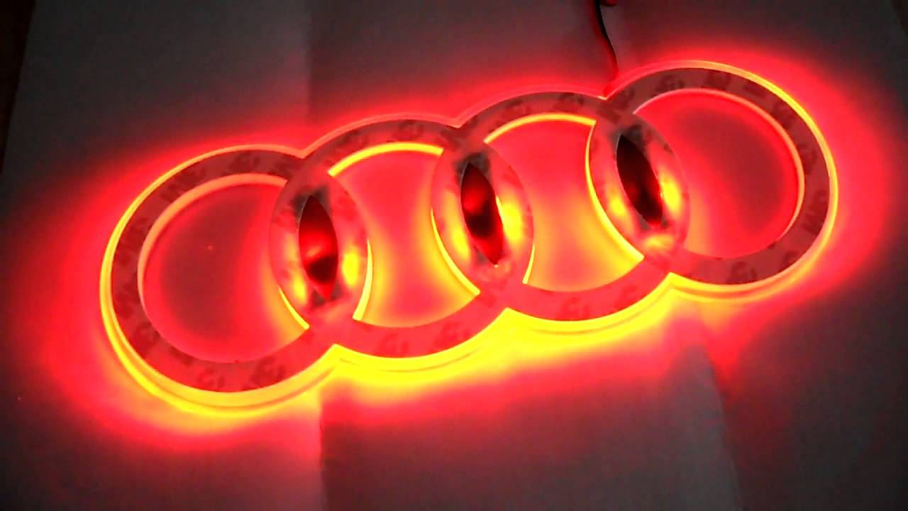 audi led emblem youtube. Black Bedroom Furniture Sets. Home Design Ideas