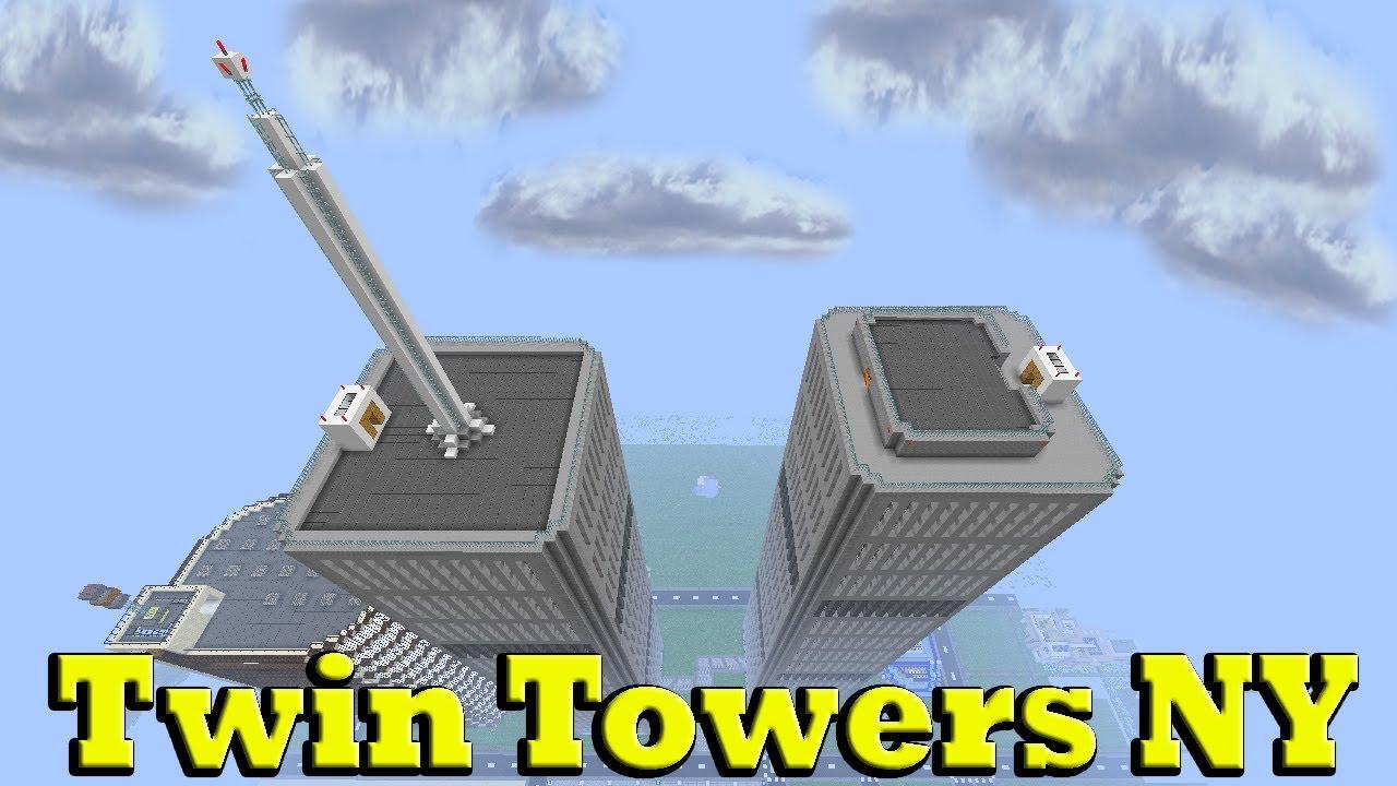 minecraft twin towers ny youtube