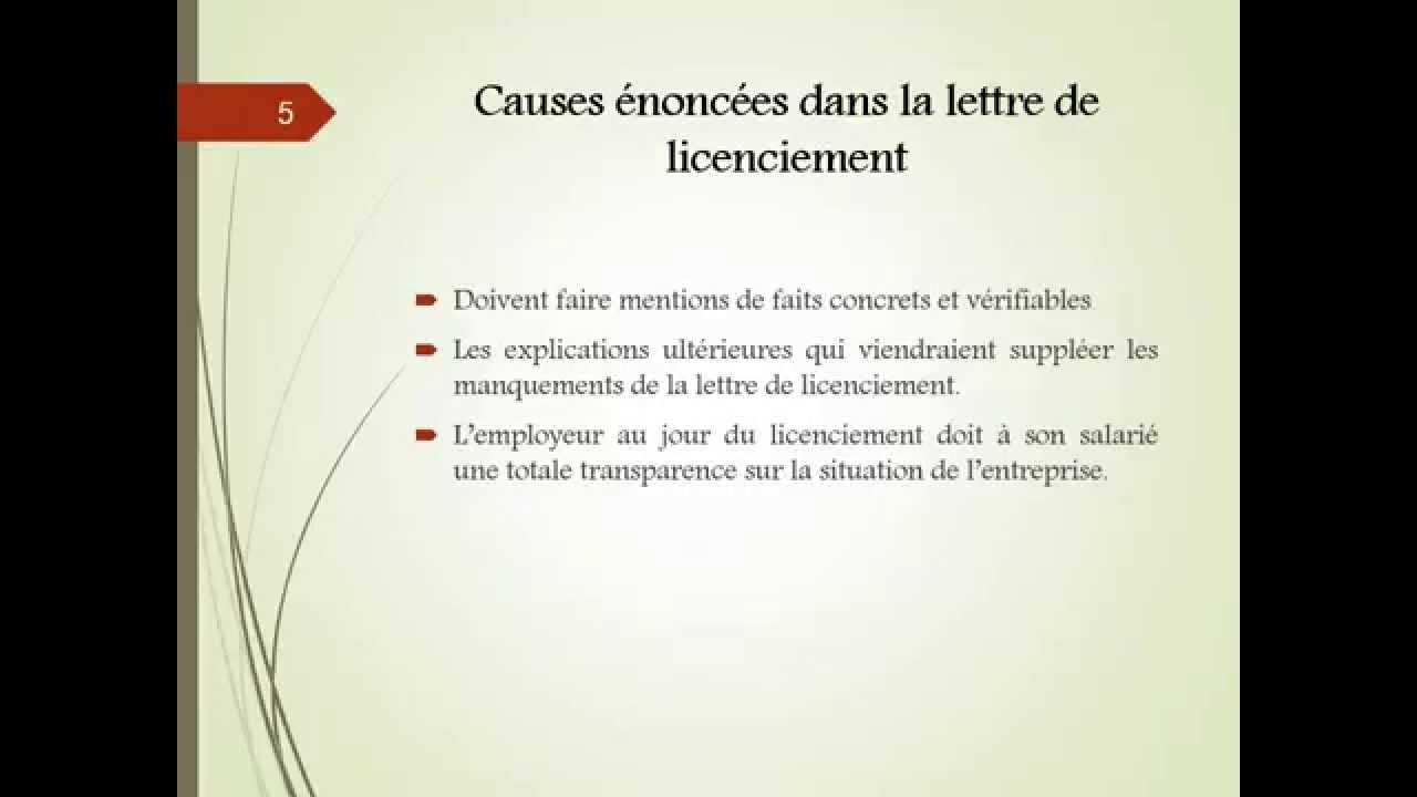 Indemnites Licenciement Economique Cadre 28 Images
