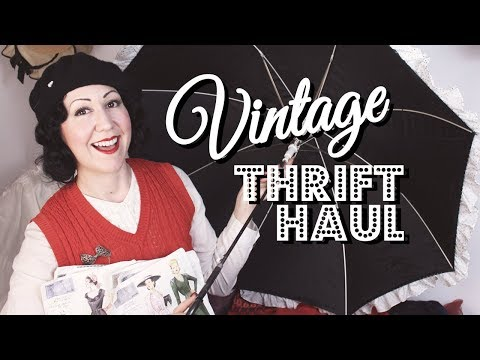 Vintage Thrift Haul - 3 months worth of thrift clothing, vintage Vogue sewing patterns and more!