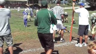 Mossimo's first Pop Warner game & first game tackle! thumbnail