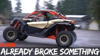 CanAm X3 BROKEN in under 24 hours of Ownership! | Ridiculous 4wd Donuts