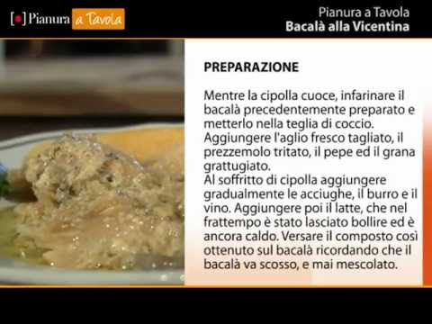 ricetta del bacal alla vicentina cucina veneta pianura a tavola