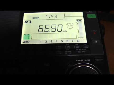Sangean ATS 909X OIRT band FM 64-108 Mhz