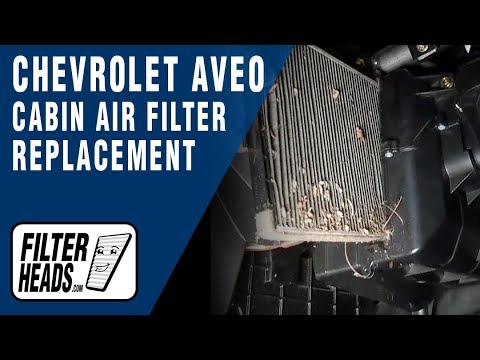 How To Replace Cabin Air Filter Chevrolet Aveo Youtube