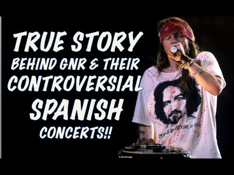 Guns N' Roses  The True Story Behind Their Controversial Spanish Concerts! Madrid!
