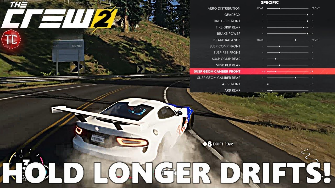 The Crew 2: PC - How To Hold LONGER DRIFTS! PRO SETTINGS!