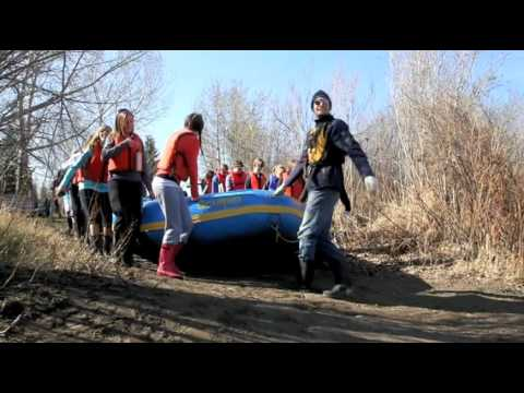 Students Take To The Red Deer River