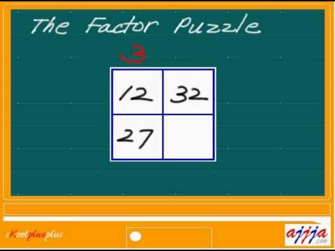 Math - Factor Puzzle 1 - YouTube