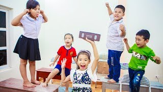 Kids Go To School   Chuns with Best Friends Learn Math Test The Creativity Of Children