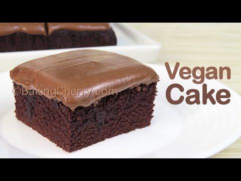 CREAMY AND MOIST VEGAN CHOCOLATE CAKE | No Eggs, no butter, no milk | Easy Dessert | Baking Cherry