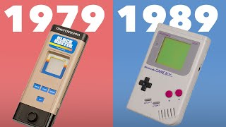 Evolution of Handheld Game Consoles 1979 - 1989