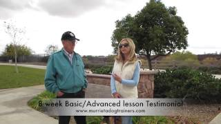 Dog Training Testimonial (off Leash K9 Training So.cal) San Diego California Dog Trainers.
