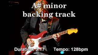 Energetic backing track - A sharp / B flat minor ( A#m Bbm )