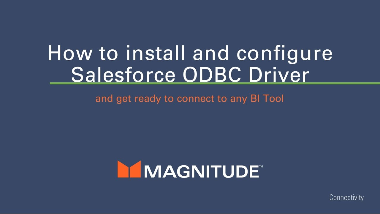 ODBC SALESFORCE DRIVERS FOR PC