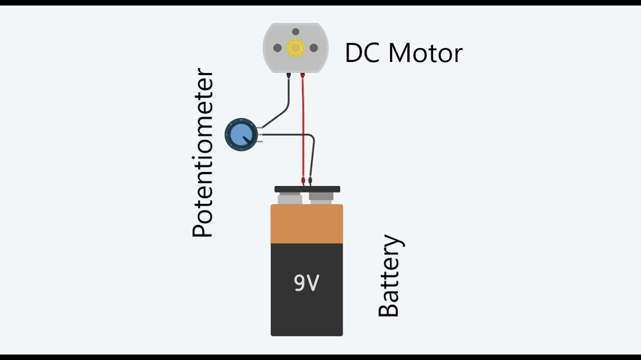 Tutorial # 4 How to use a potentiometer to control the speed of a DC Motor  - YouTube   Potentiometer Wiring Diagram Fan      YouTube
