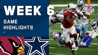 Cardinals vs. Cowboys Week 6 Highlights | NFL 2020