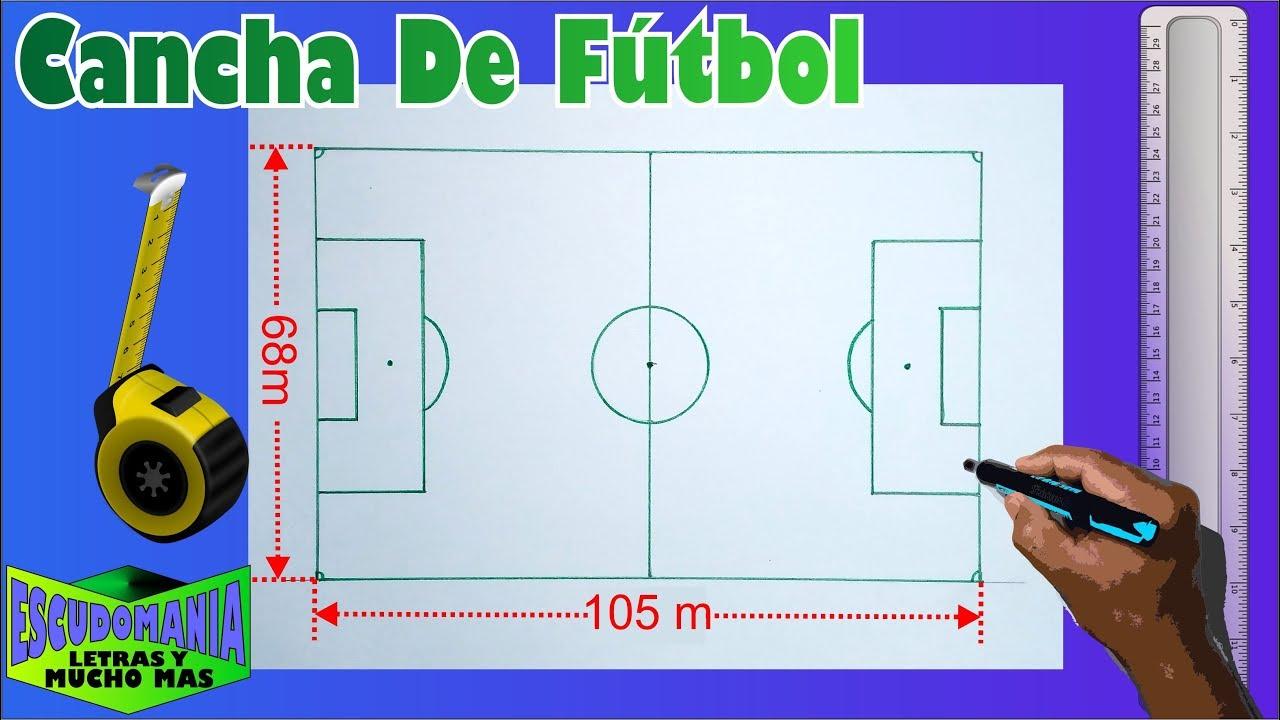Cómo Dibujar Una Cancha De Fútbol A Escala 1 50 En Tamaño Carta Youtube