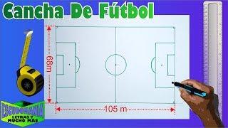 Cómo dibujar una cancha de Fútbol a escala Tamaño Carta