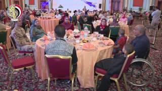 إفطار وزير الدفاع مع أسر الشهداء ومصابي العمليات الحربية (فيديو) | المصري اليوم
