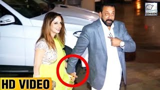 DRUNK Sanjay Dutt Forcefully Clicks Pictures With Hrithik's Ex-wife Sussanne Khan | LehrenTV