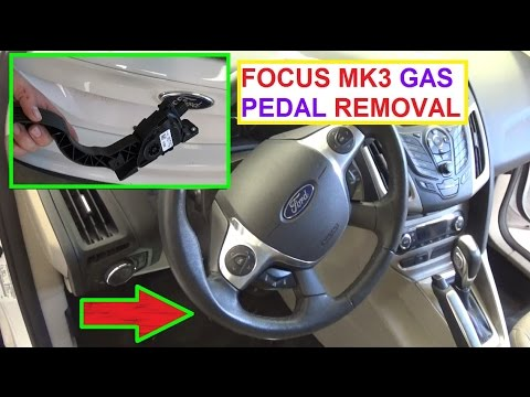 P2135 Code Throttle/Pedal Pos Sensor/Switch Throttle Pedal Removal and  Replacement Ford Focus MK3