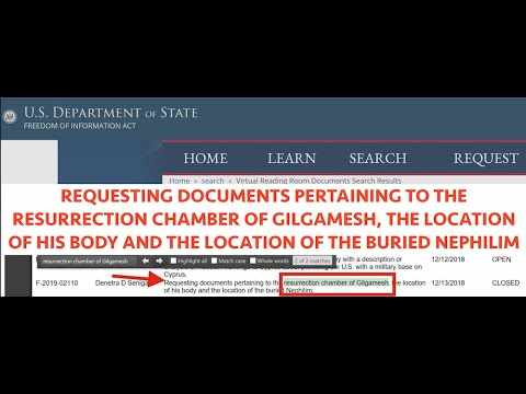 FOIA Emails Leaked, Gilgamesh Resurrection Chamber Found? The Nephilim King