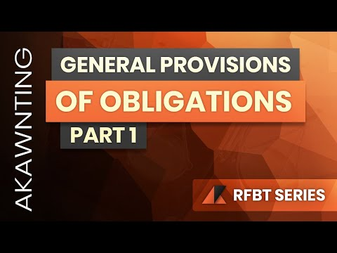 Obligations: General Provisions Part 1 (2020)