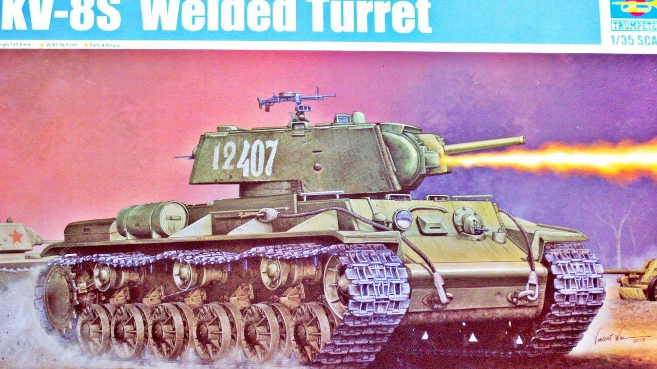 1:35 Trumpeter Kv8s Welded Turret-Modèle 135 Kit