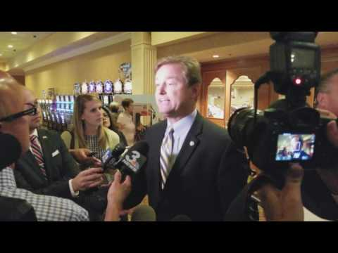 Las Vegas Media Gaggle with Senator Dean Heller After Private Luncheon
