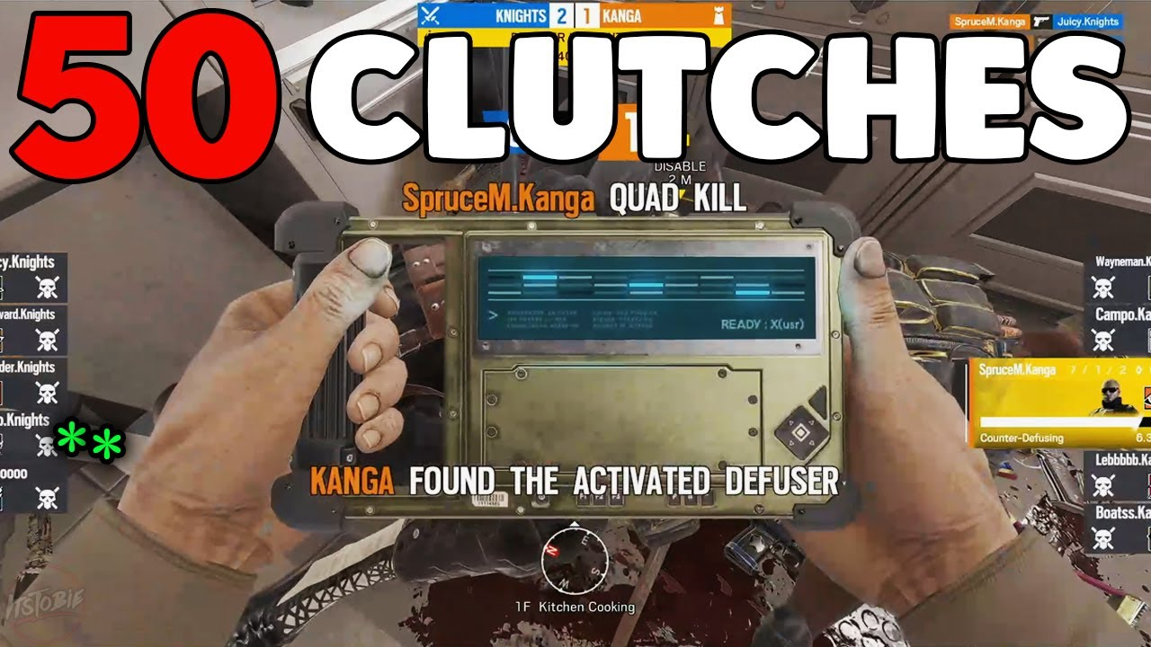 50+ Moments of Pro Players Clutching - Rainbow Six Siege