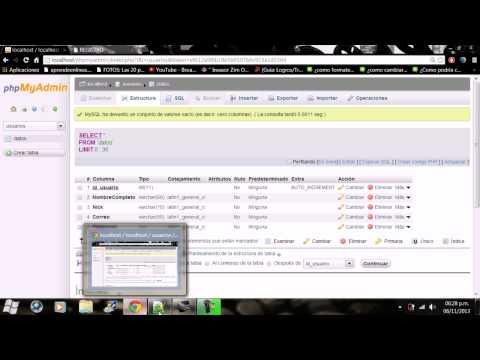 Como Conectar Un Formulario En HTML Con Una Base De Datos En PhpMyAdmin