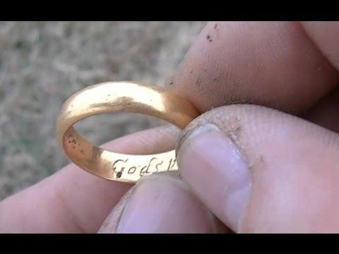 36.Поиск золота РЫЖИК ПЫЖИК золотое кольцо 300 лет АЛЛИЛУЙЯ Post-medieval gold ring METAL DETECTING