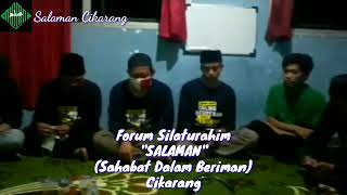 SHOLAWAT NABI (ala Kang Ujang Busthomi) Di iringi Gemericik Air ~ Forum Silaturahim Salaman Cikarang