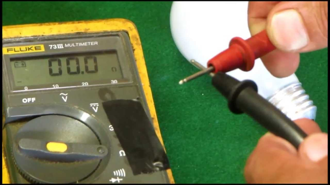 Using A Multimeter To Check Light Bulb Youtube If Led Is Used Instead Of The Connections Will Require Bit