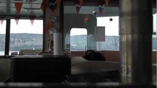 Marietje Marsilla comes under Duluth Aerial Lift Bridge on June 8, 2012