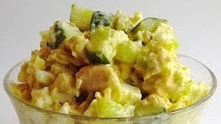 Салат с Горбушей кулинарный видео рецепт