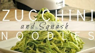 Zucchini And Squash Noodles With Avocado Dressing