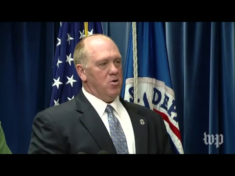 DHS holds a news conference on immigration and border enforcement