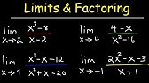 Finding Limits Precalculus Methods - YouTube