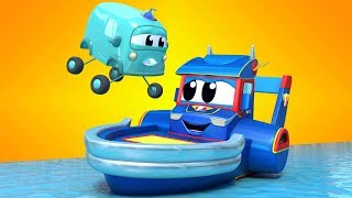 Truck videos for kids -  Babies go on a SCHOOL TRIP at CONSTRUCTION site - Super Truck in Car City !