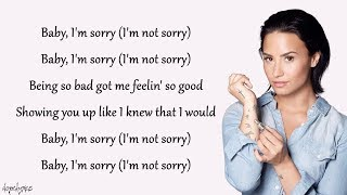 Sorry Not Sorry   Demi Lovato (lyrics)