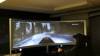 Testdrive on new 102inch curved rear scren. GRID 2 & F1