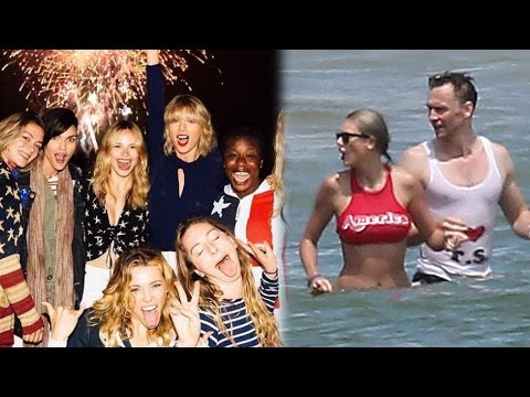 Taylor Swift & Tom Hiddleston Love Fest During Star-Studded 4th of July Bash